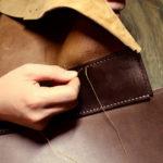 4種類の革が存分に活かされたバッグ